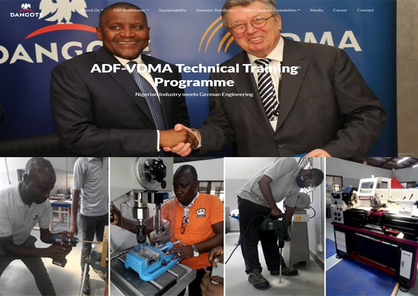 Free Technical Training Dangote